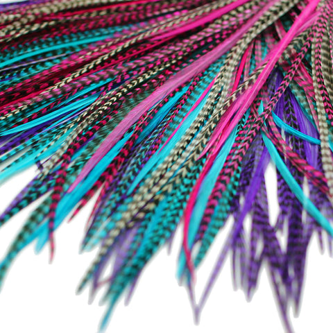 20x Discount  B-Grade Feathers - Petunia