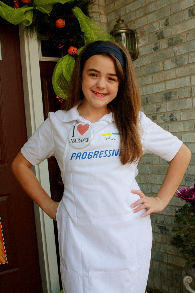 ... for Halloween as Flo from Progressive Insurance. Certainly if you watch TV you know this character. Many people have told her they liked her costume.  sc 1 st  lisA fRosT & Going with the FLO...DIY Halloween Costume | lisA fRosT