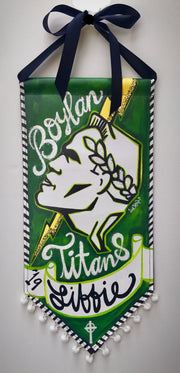 Small Boylan Titans Personalized Banner