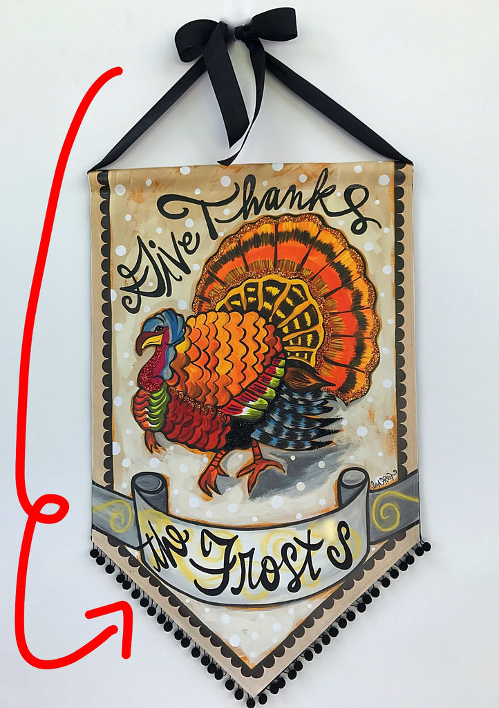 Give Thanks Personalized Turkey Banner