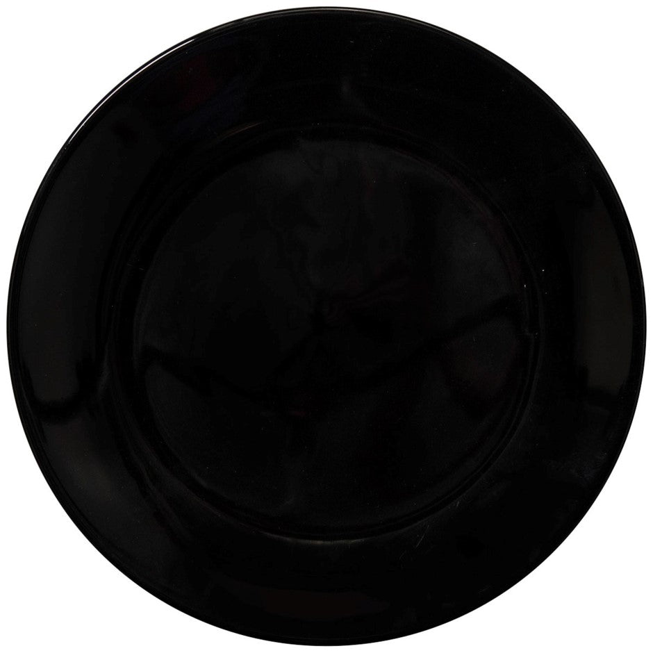 Dutch Rose Dinner Plate - black