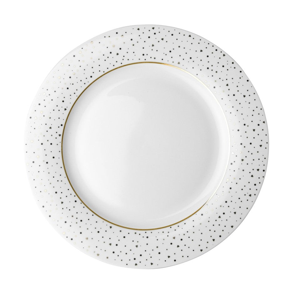 Dutch Rose Dinner Plate - Sparkling White