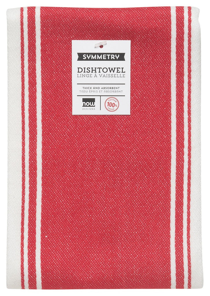 Symmetry Dishtowel - Red