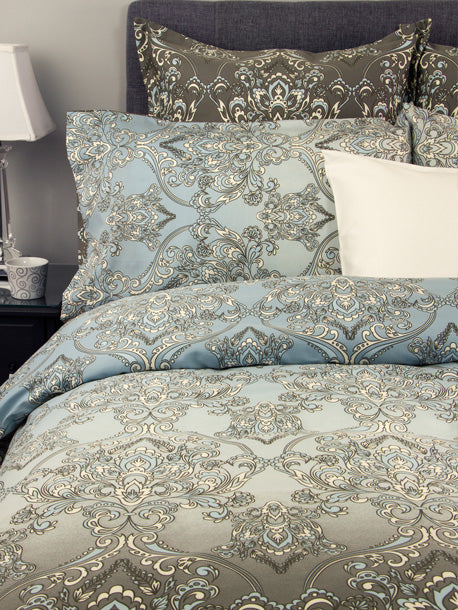 Damask Pillow Sham Set - King
