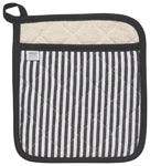 Superior Pot Holder - Black Stripe