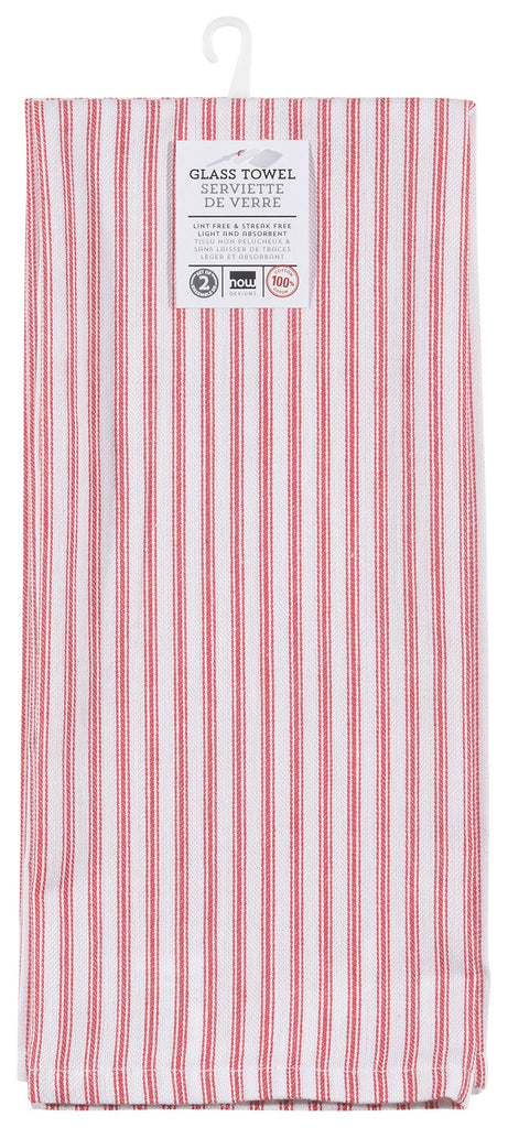 Glass Dishtowel, Set of 2 - Red