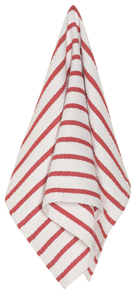Basketweave Dishtowel - Red