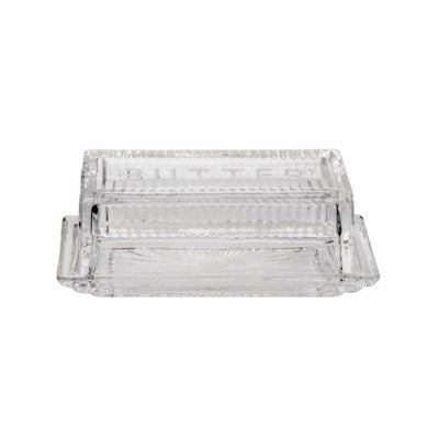 Butter Dish - glass, rectangle
