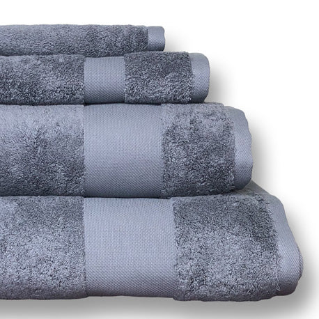Alexandria Egyptian Cotton Face Towel - Light Grey