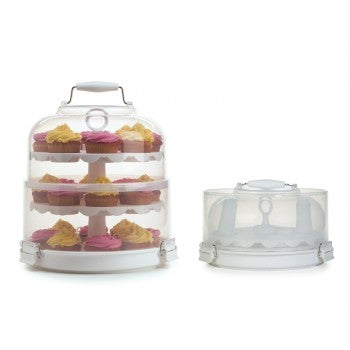 Collapsible Cupcake Carrier and Stand