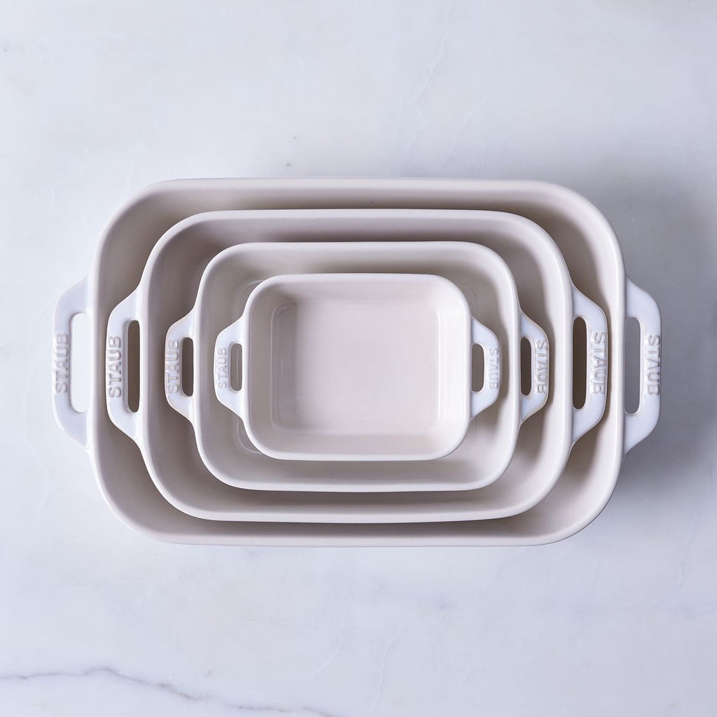 Staub RECTANGULAR BAKING DISH 20x16 - WHITE