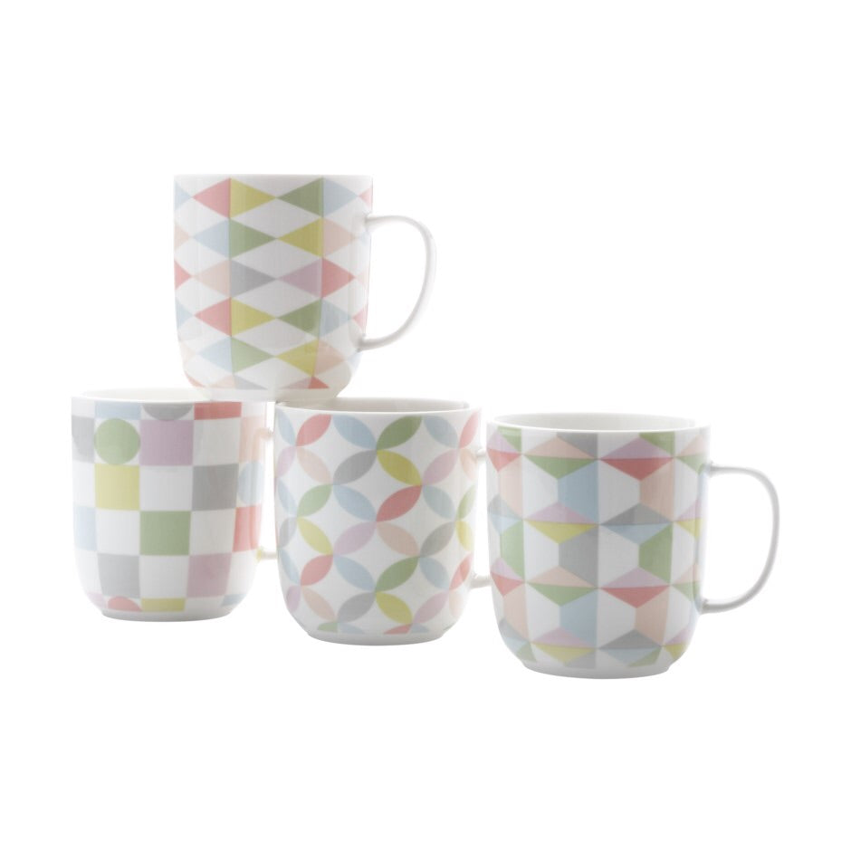 Set of 4 Mugs - Geoclectic