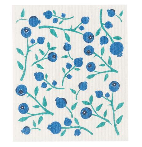 Swedish Dish Cloth - Blueberries