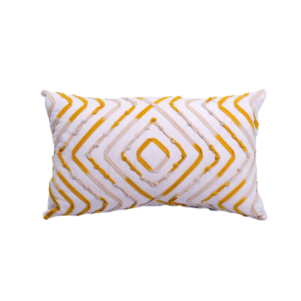 Mandala Pillow - Yellow 12 x 20