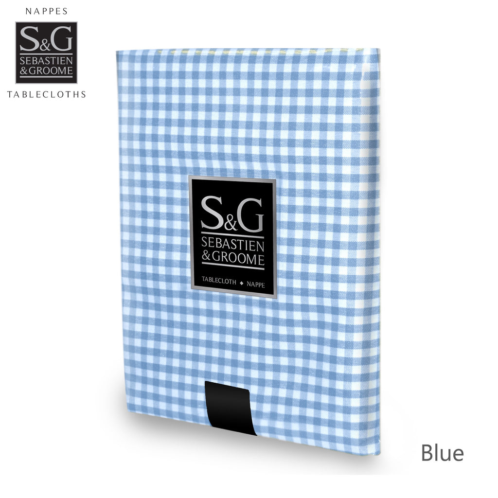 Mini Gingham 60x84 OB - Blue/White