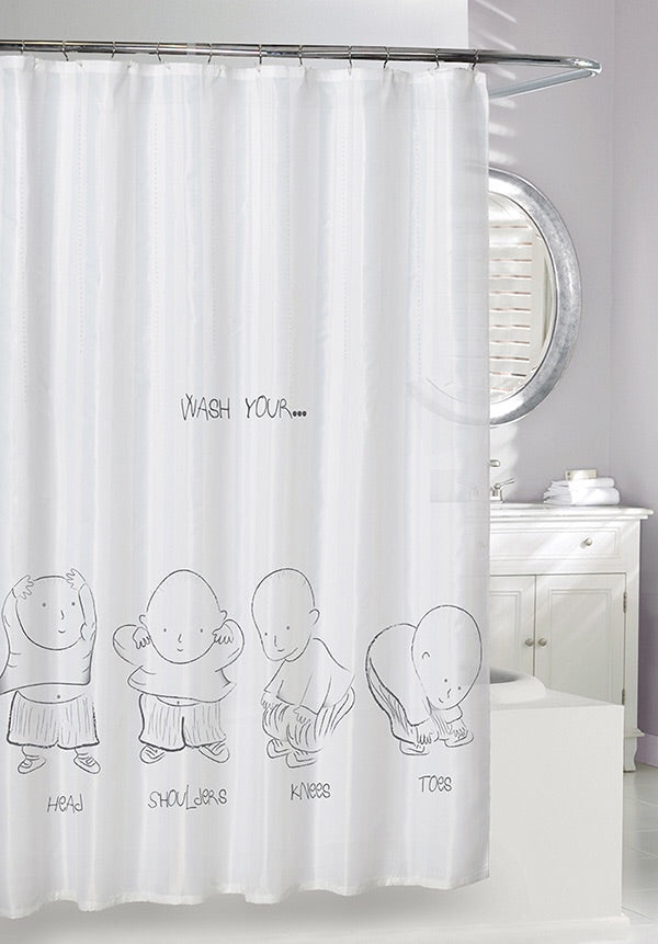 Heads Shoulders Knees Toes Shower Curtain