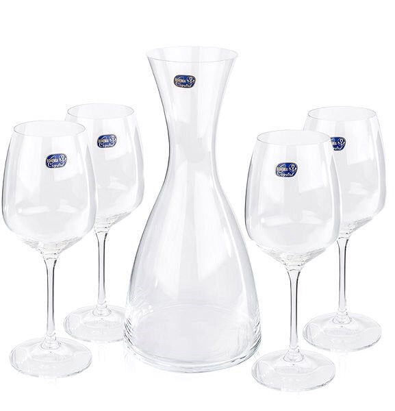 Giselle Wine Set Carafe & 4XWine 455 ml