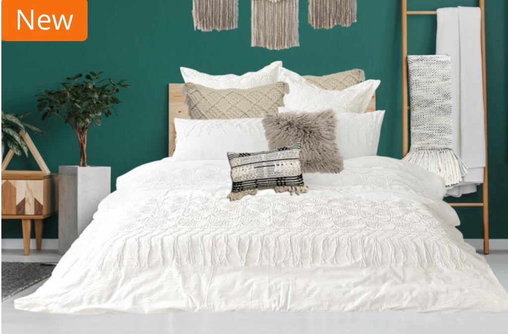 Riad Ivory Duvet Cover - King