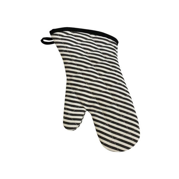 Oven Mitt Superior- Narrow Black Stripe