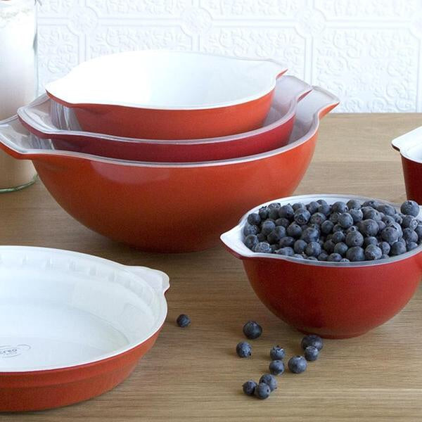 Creo Nesting Bowls, Set of 4, Red