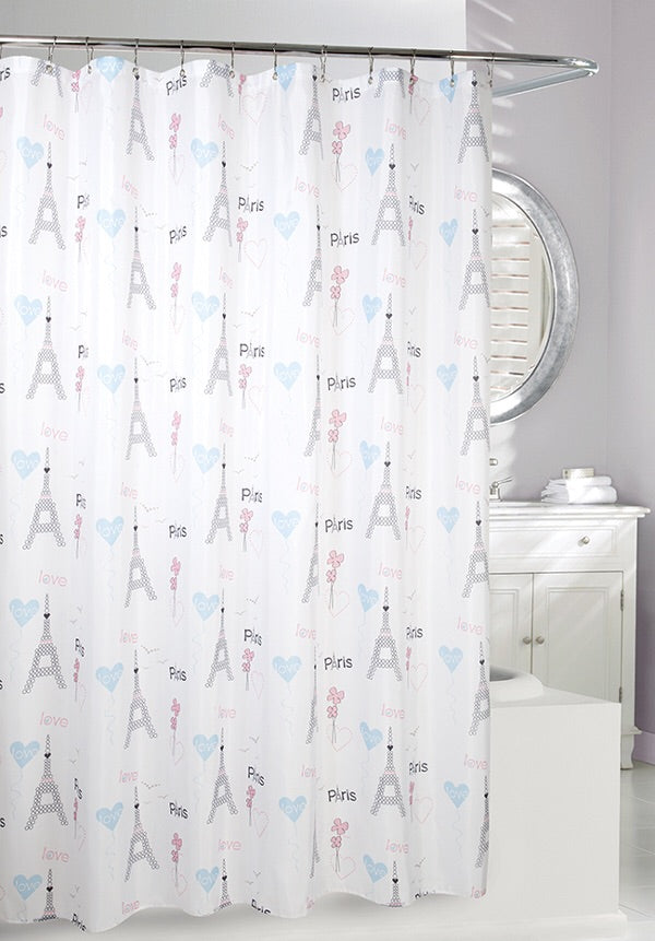 Amour Paris Shower Curtain