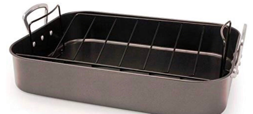 Roasting Pan W/V-Rack, 16""