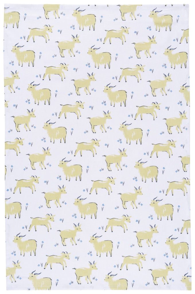 Cotton Teatowel - Goat