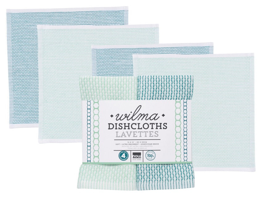 Wilma Dishcloths - Set of 4, Peacock