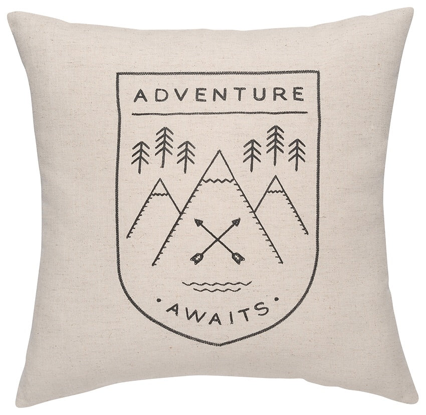"Adventure Awaits 17"" Cushion"