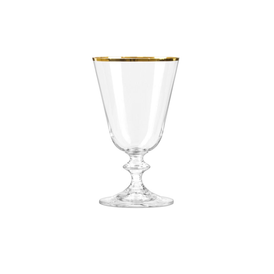 Bella Red Wine Glass w/ Gold Rim (350 ml)