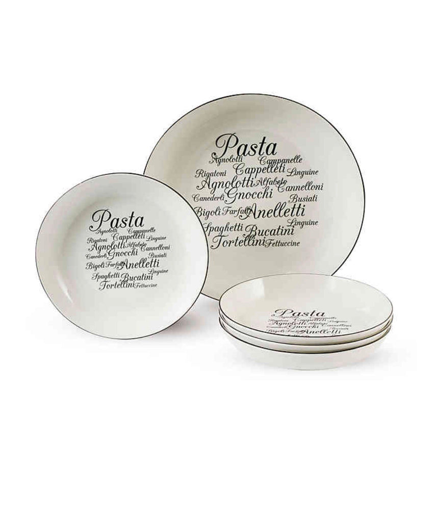 5 PC Dinnerware Trattoria Pasta Set
