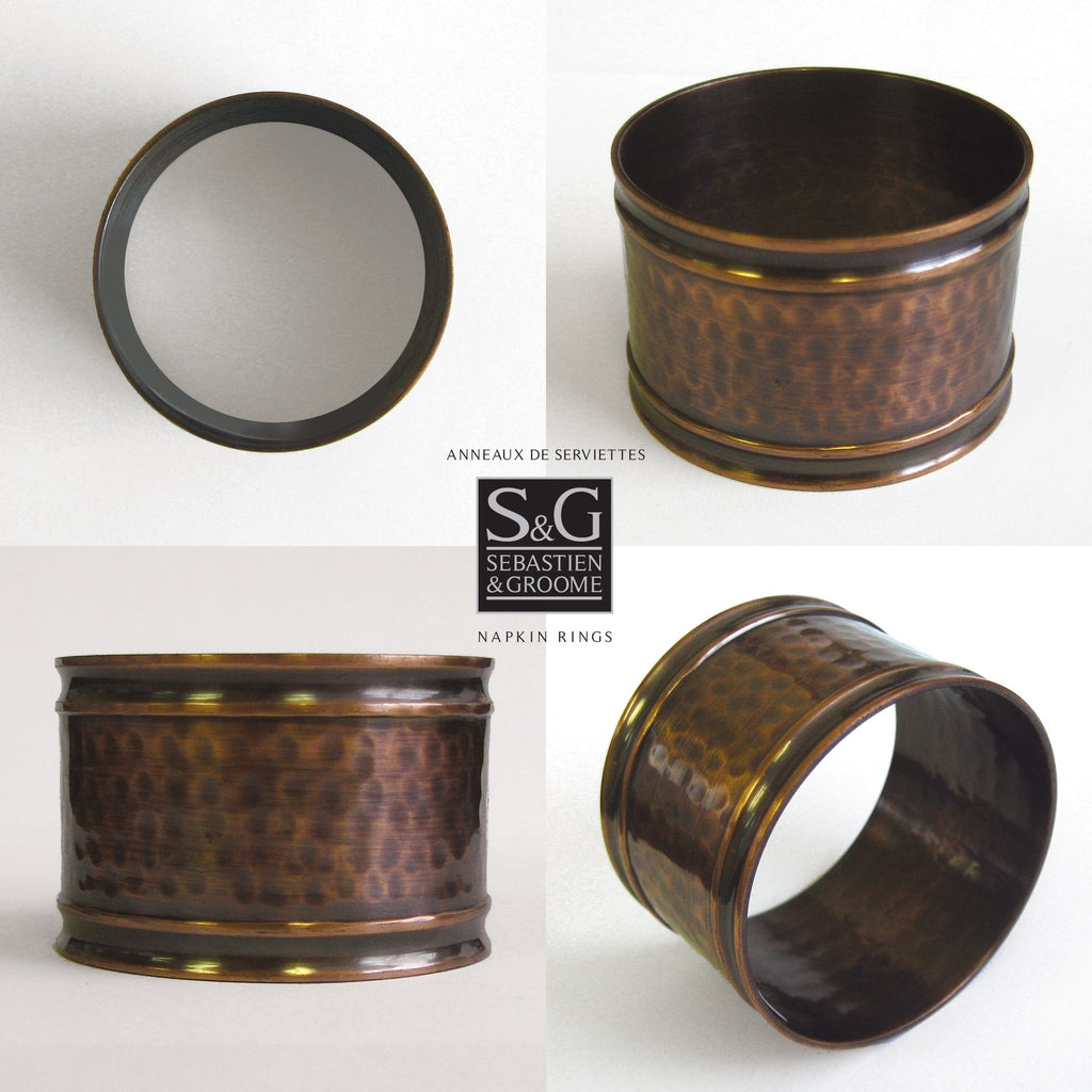 Napkin Ring - Brass w/ Hammer Dot