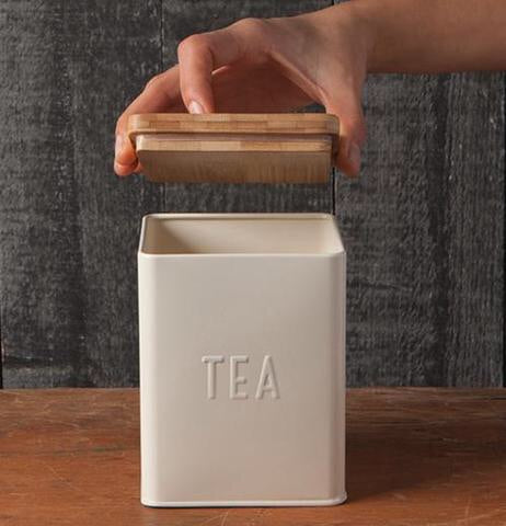 Tea Tin - Cream