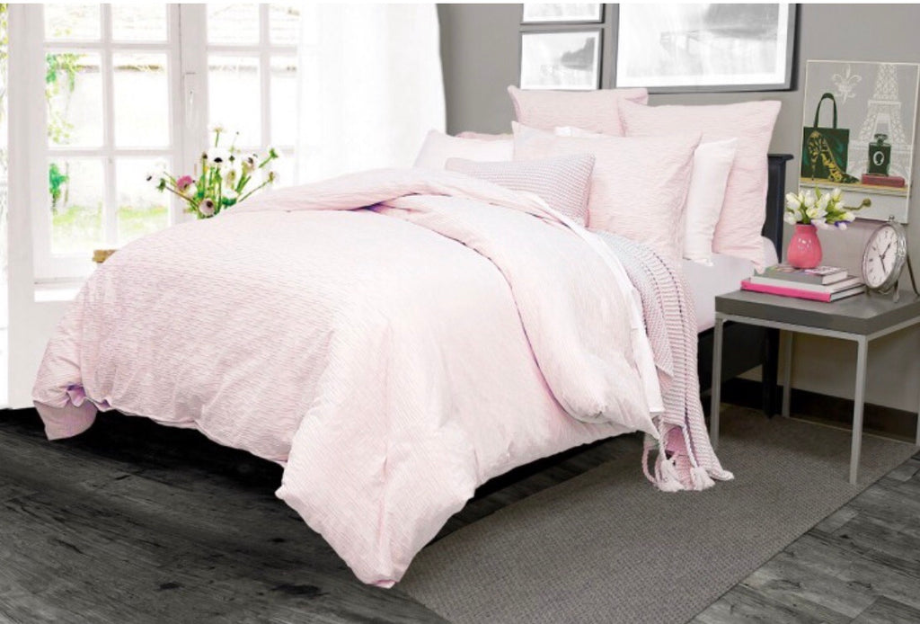 Carlyle Blush Duvet Cover Double/Queen