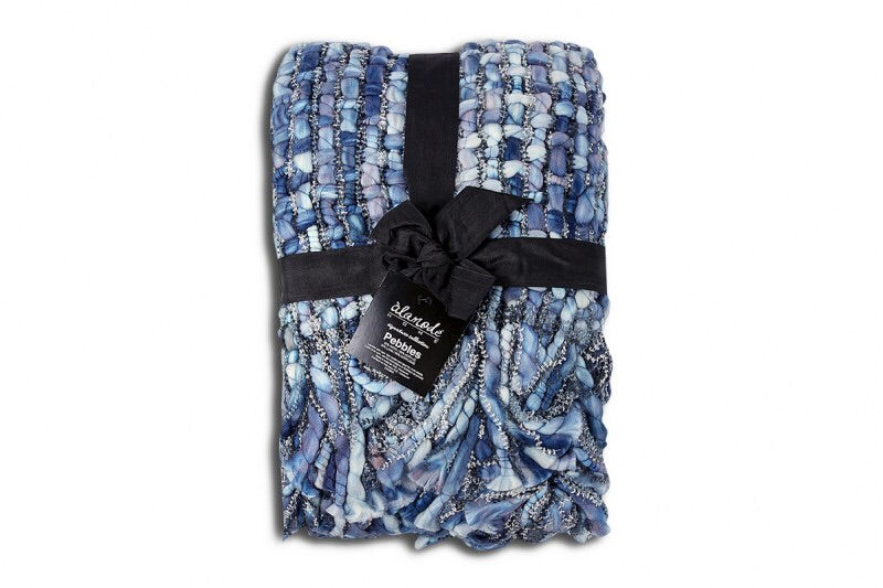 Pebbles Blue Throw