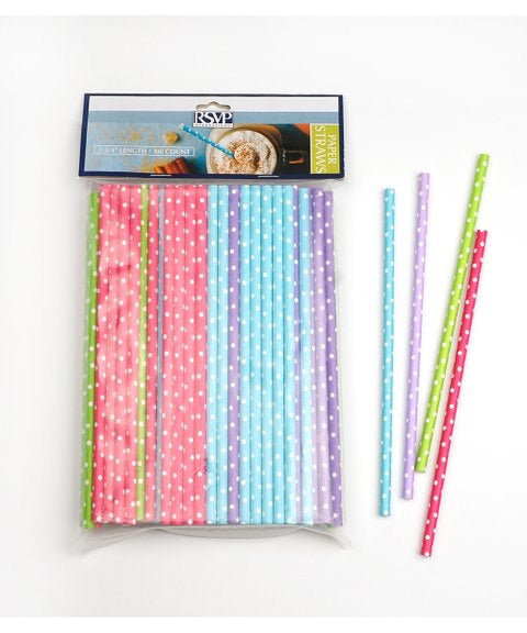 Paper Straws - Dotted 100ct
