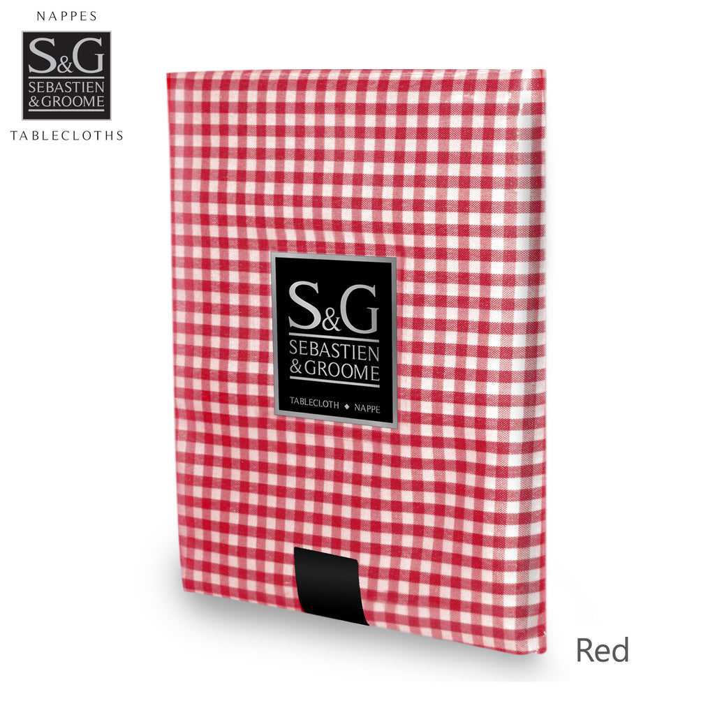 Mini Gingham 60x104 OB - Red/White