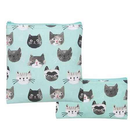 Reusable Snack Bag Set of 2 - Cats Meow