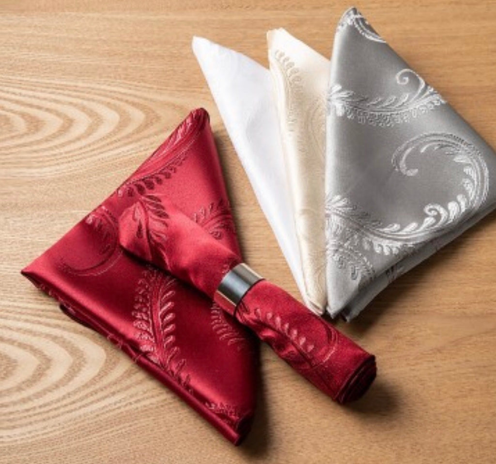 Enchanted Scrolls Napkins - Pewter