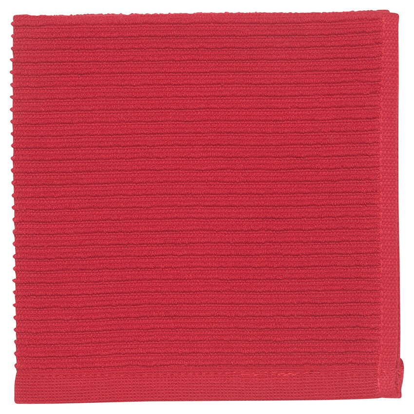 Ripple Dishcloths - Red Set of 2