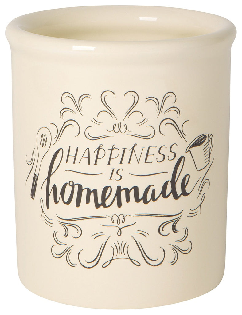 Vintage Utensil Crock - Homemade Happiness