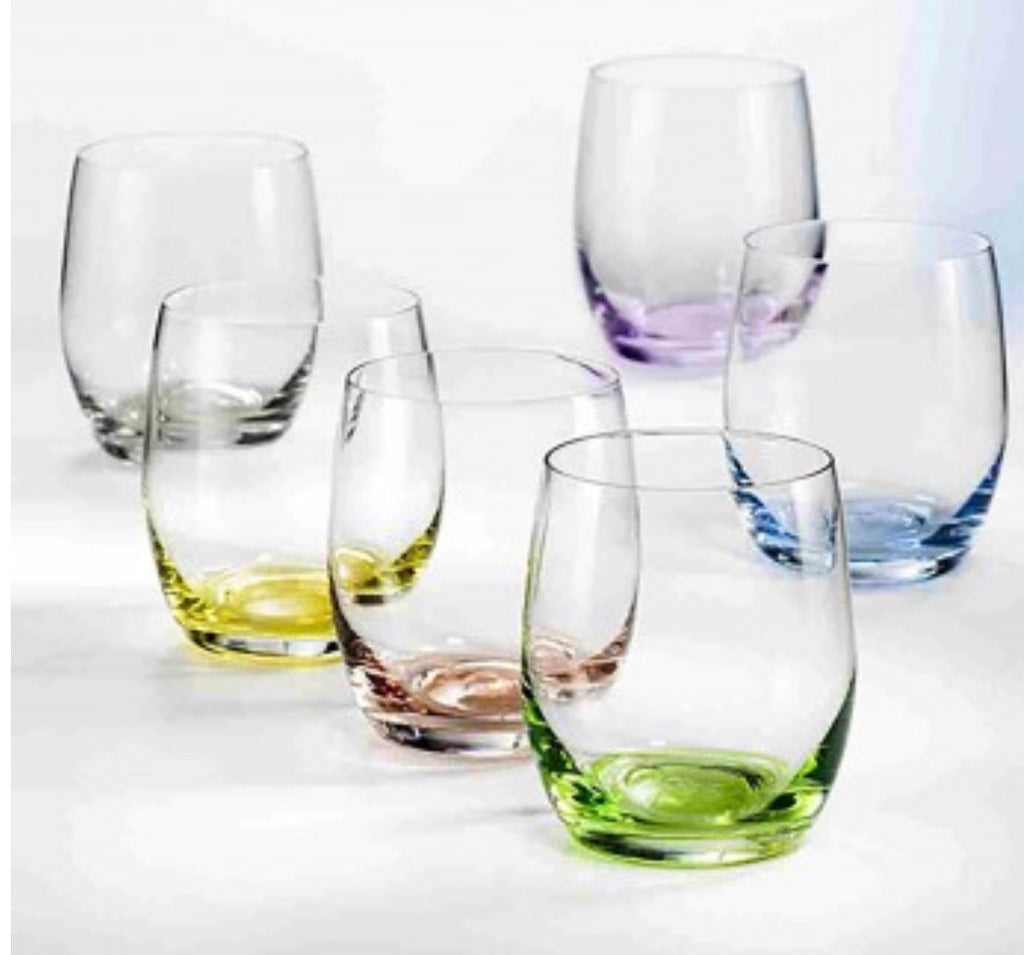 Bohemia Rainbow Short Glass Set (6 x 300 ml)
