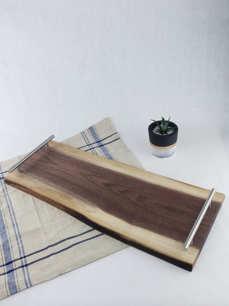 Live Edge 30x10 Serving Tray - Walnut
