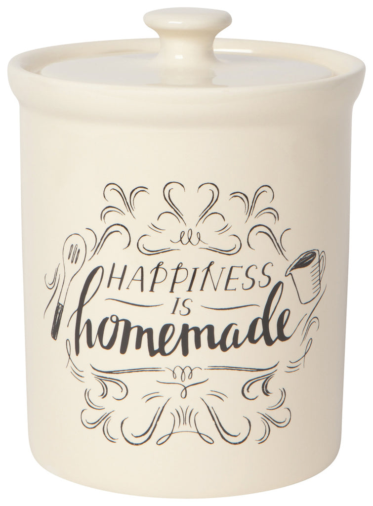 Canister Vintage Homemade Happiness - Ivory