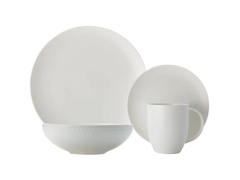 16PC Dinnerware Set Diamond Round