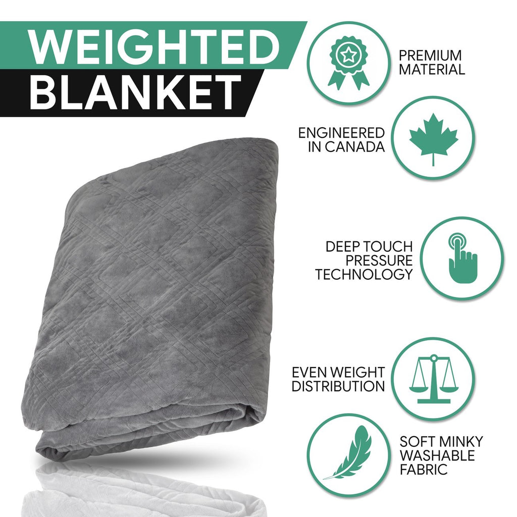 Weighted Blanket - 20 lb, Twin Classic White