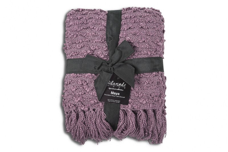 Maya Mauve Throw