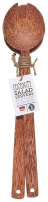 Salad Servers - Coconut (natural)