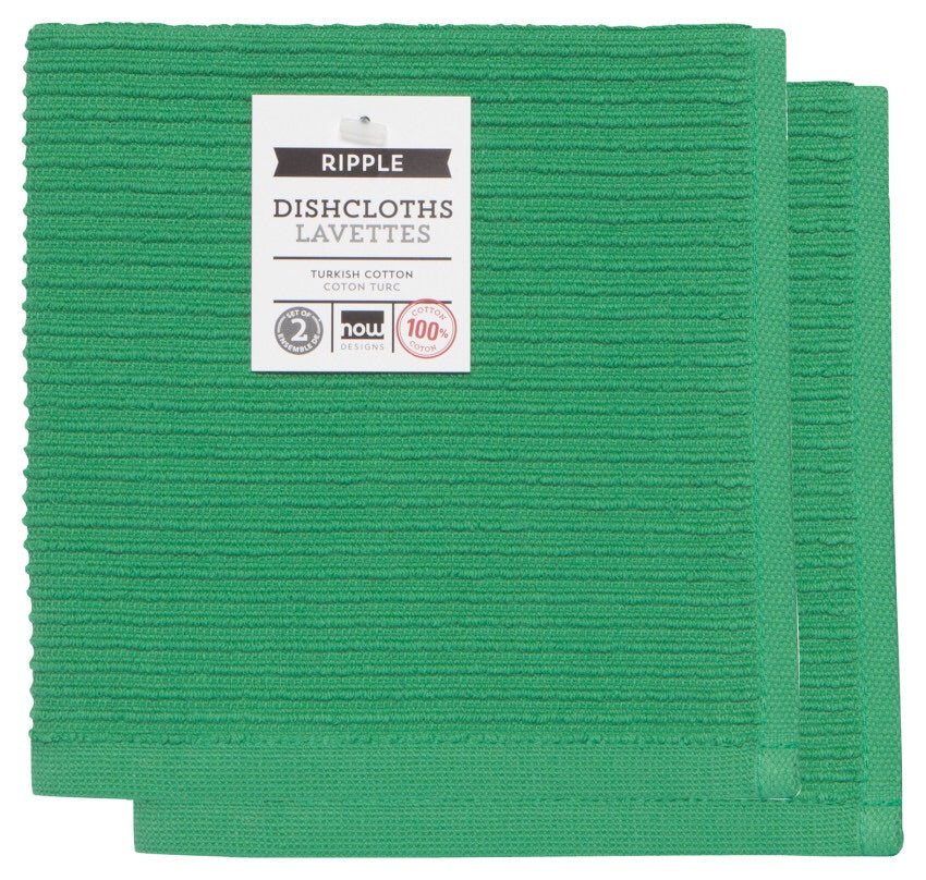 Ripple Dishcloths - Greenbriar Set of 2