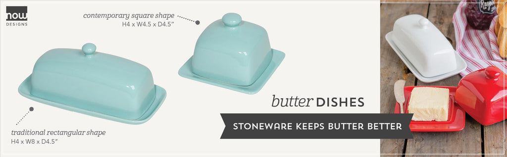 Square Butter Dish -White
